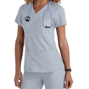 Grey's Anatomy V Neck Scrub Top Lavender XS